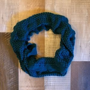 Dark Teal Open Knit Infinity Scarf